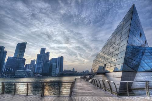 An unusual building in Marina Bay Sands, Singapore