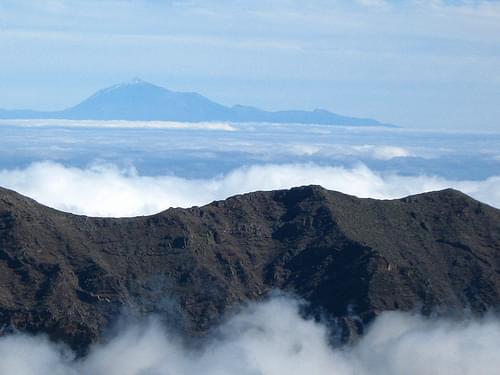 Tenerife desde la caldera de Taburiente - Tenerife from Caldera de Taburiente National Park