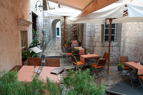 Small cafe in Dubrovnik, Croatia