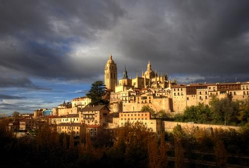 segovia autumn sunset