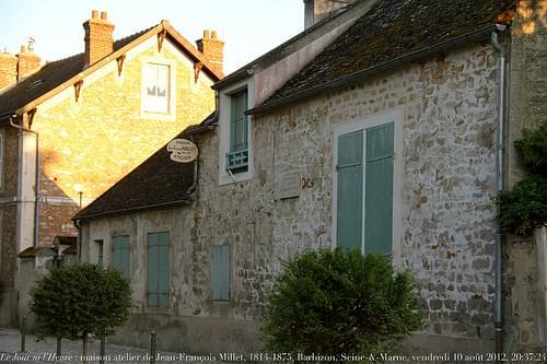 Le Jour ni l'Heure 7235 : maison-atelier de Jean-François Millet, 1814-1875, à Barbizon, Seine-&-Marne, Île-de-France, vendredi 10 août 2012, 20:37:24