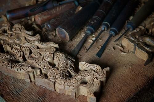 Kim Bồng Woodworking village