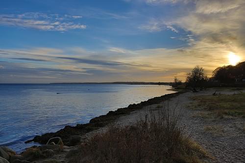 Øresund at sunset