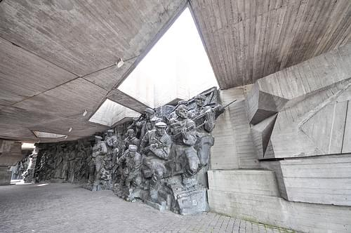 Sculpture corridor at the Museum of the Great Patriotic War
