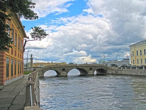 The 'Laundry Bridge' over the Fontanka