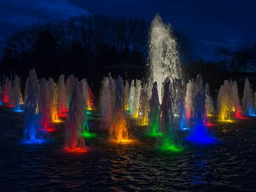 Colourful fountain