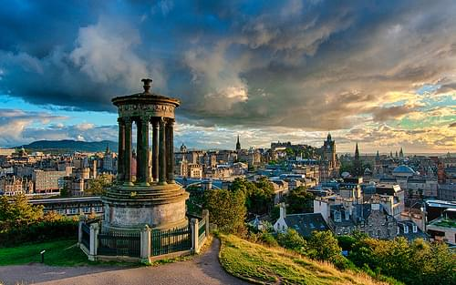 Stormy Calton Hill, Edinburgh (Remixed)