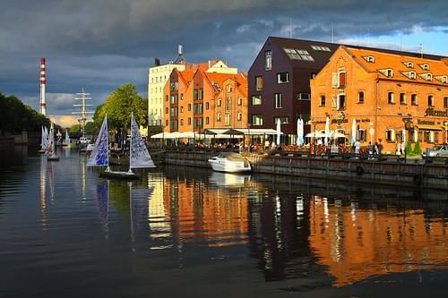 Klaipeda canal, Lithuania