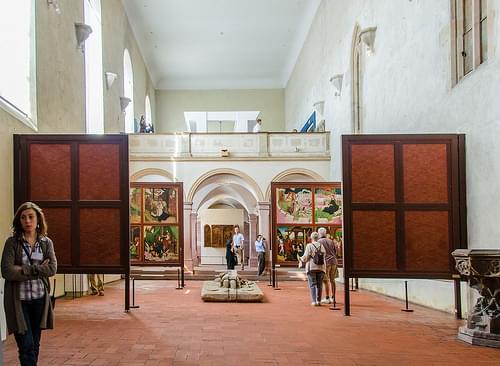 Inside the Unterlinden Museum, Colmar, France.