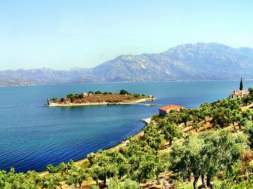 Lake Bafa in Turkey