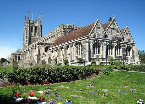 the Church of the Holy Trinity, Long Melford, Suffolk, England (from the southeast)