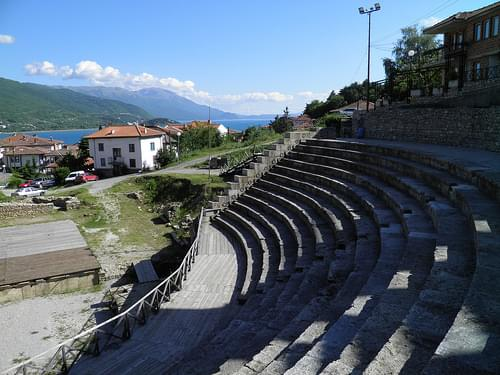 Greek Theatre built in 200 BC, Lychnidos, Ohrid, Republic of Macedonia FYROM