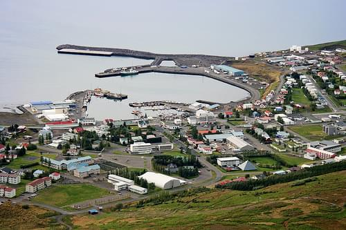 The town of Húsavík