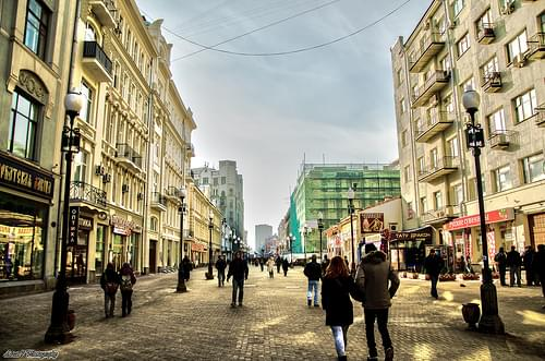 My First HDR photography... Arbat Street, Moscow