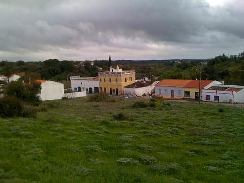 Vista sobre o campo, da Igreja de São Lourenço, Almancil