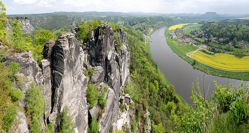 Cliffs and River Elbe