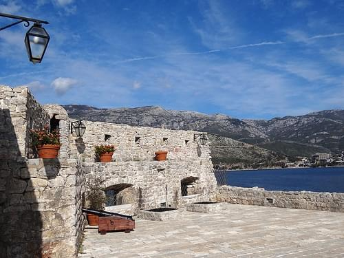 Old City Scene from Citadel - Budva - Montenegro - 01