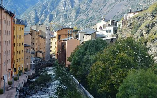 El Valira i Les Escaldes, Andorra