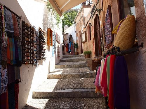 Narrow Shopping Streets, Lindos