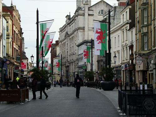 St Mary's Street, Cardiff, St David's Day