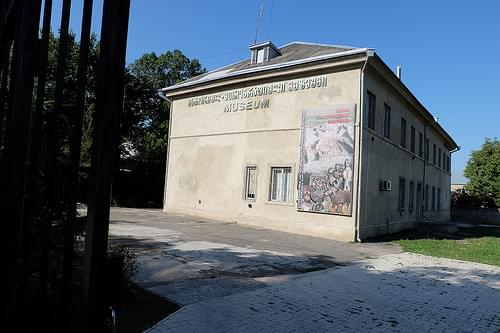 Far view of the Ethnological museum in Gori, Georgia