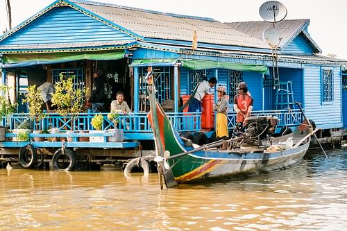 Done Fishing, Floating Village, Tonle Sap, Cambodia
