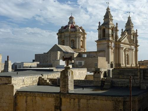 Mdina, Palazzo Falson roof terrace to cathedral (2)