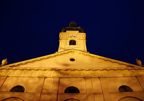 Basilica at the end of the blue hour