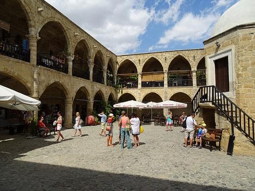 Courtyard of Buyuk Han - Northern Nicosia - Turkish Republic of Northern Cyprus