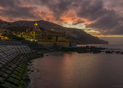 Sao Tiago fort at dawn