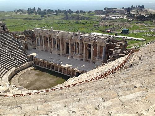 Looking over archeological site of Hierapolis from Theatre