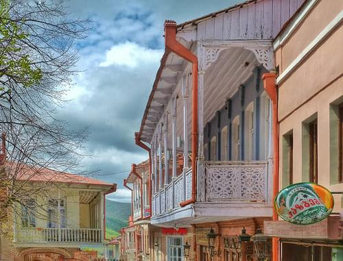 Wonderful balconies in City of love - Sighnaghi
