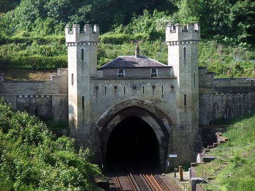 Interesting folly at the north end of the Clayton railway tunnel