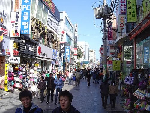 Down town walking street in Ulsan