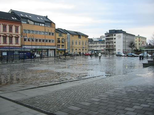 Arendal sentrum, julaftens formiddag
