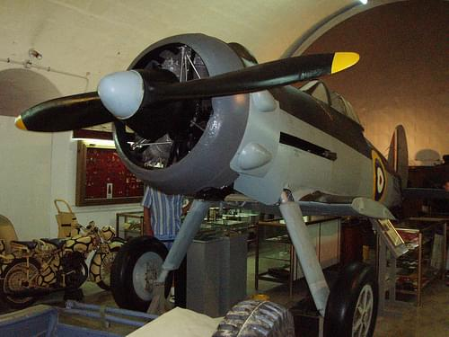 Faith, Gloster Gladiator Biplane from WWII, National War museum, Valletta - Malta