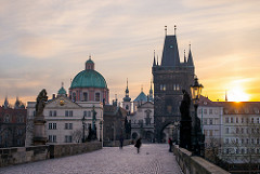 A Morning Breaks in Prague