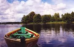 rental boat at Trakai