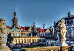 Dresden, Schloss und Zwinger kurz vor Weihnachten