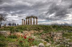 roman ruin at corinth