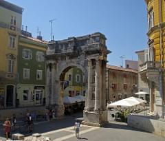 Arc dels Sergis, Pula (Pola), Ístria, Croàcia