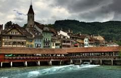 Thun waterfront and bridge