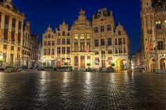 Blue hour in Grand Place