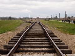 Main arrival railway of Auschwitz-Birkenau (Oświęcim, Poland 2014)