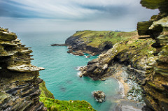 View from the Tintagel castle, Cornwall, United Kingdom