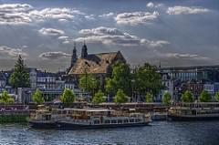 Left bank of the Maas in Maastricht