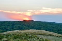 Sunset over the forest of Ibanesti, Botosani, Romania
