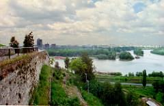 Sava River flows into the Danube