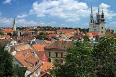 Zagreb - Vue sur la ville haute