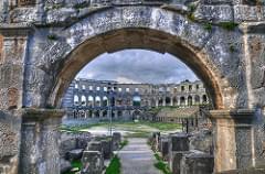 Inside Pula amphitheatre